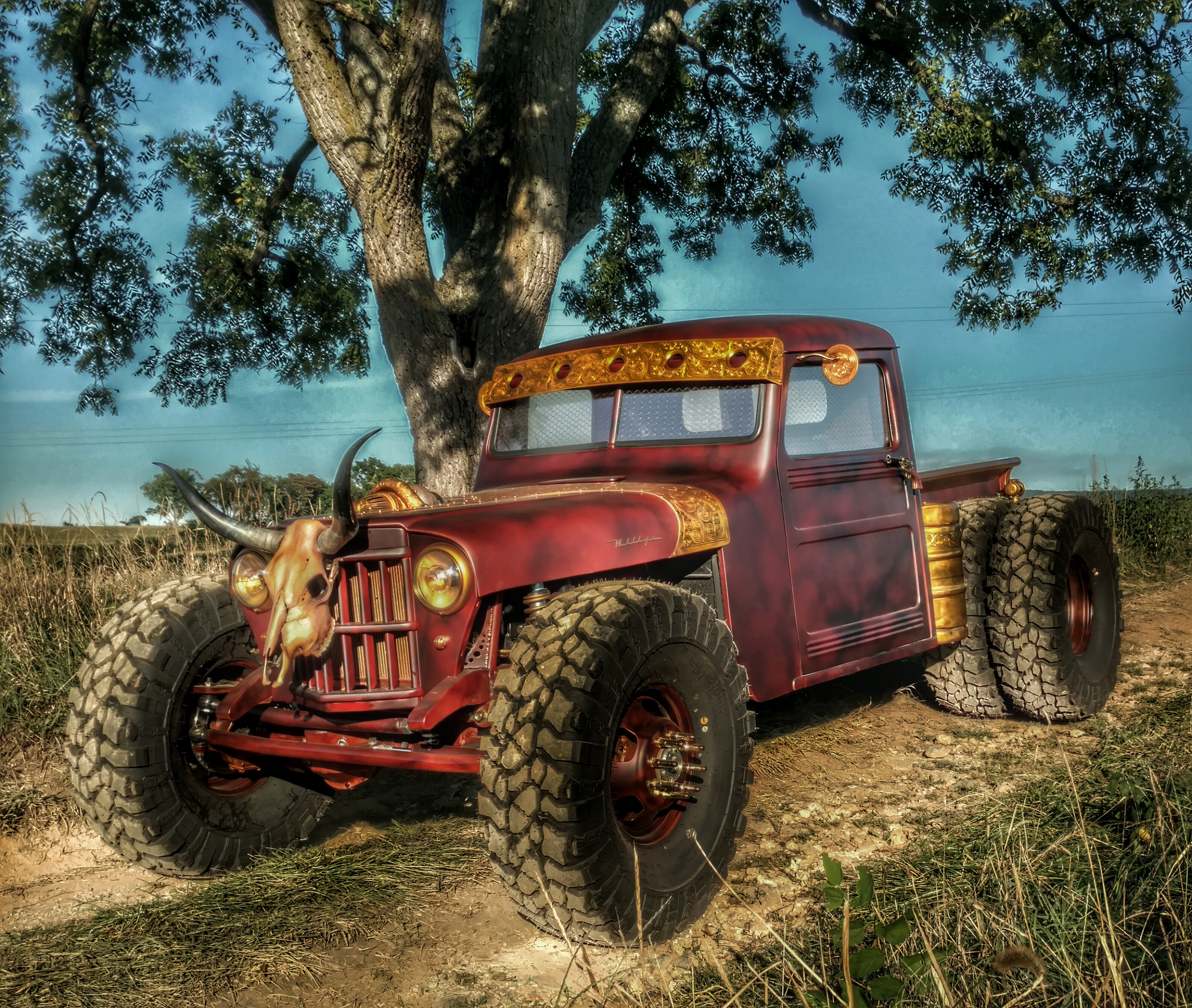 A Willys built by Hauk Designs on the TV Show, Road Hauks.